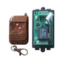 Wholesale 12v Keyed Switch - Wholesale-HotSale 12v 1 channel rf wireless remote control relay switch 433m Relay Module Learning Code Switch With 2 key Remote Control