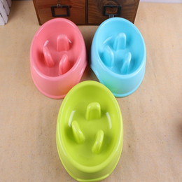 Wholesale Storage Bamboo Fiber - Environmental Bamboo Fiber Pet Bowl Help Digestion Anti-choke Health Plastic Dog Bowl