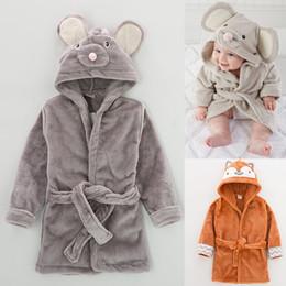 Wholesale Toddlers Bathrobes Girls - Kids Pajamas Sleepwear for Girls Pyjama Winter Flannel Cartoon Clothing Boy Bathrobe Children Robe Toddler Clothes Animal Nightgowns