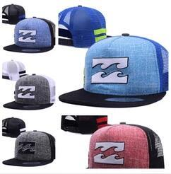 Wholesale Truck Mesh Hats Free Shipping - Free Shipping Newest Casquette Fashion Billabo Snapback Caps Hats for Men Women Sport Summer Truck Mesh Cap Hip Hop lorry Adjustable dad Hat