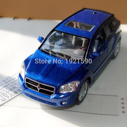 Wholesale Toys 34 - Brand New KINGSMART 1 34 Scale USA Dodge Caliber SUV Diecast Metal Pull Back Car Model Toy For Collection Gift Kids