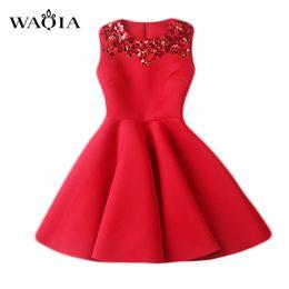 Wholesale Thin Night Gown - Wholesale- european style vestidos 2017 vestido de festa casual slim space cotton sequin slim thin red dress women dress vestidos femininos