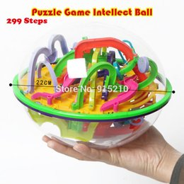 Wholesale Magical Intellect - Wholesale- 299 level 3D Magic Maze Ball perplexus magical intellect ball educational toys Marble Puzzle Orbit game IQ Balance toy balls