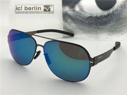 2019 occhiali senza lente Occhiali da sole firmati Germania modello IC guenther ultraleggero senza vite memoria occhiali in lega di vetro rimovibile con lenti riflettenti occhiali senza lente economici