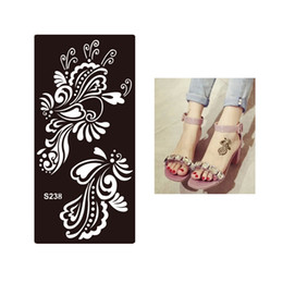Wholesale Eye Art Stickers - Wholesale- 1pc Tasty Waterproof Temporary Tattoo Henna Flower Stencil for Sex Women Men Makeup Body Art Tattoo Sticker Template Design S238