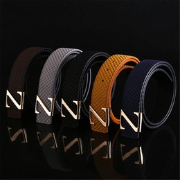 Wholesale Boys Buckle Jeans - 2016 fashion brand 100% genuine leather men's casual belt metal Famous Brand belts for men jeans high quality Waistband free shipping