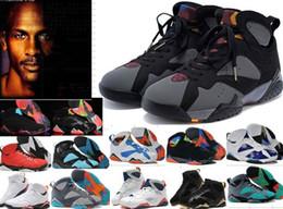 2019 zapatos púrpuras del satén Barato 7 Zapatos de baloncesto Hombres Mujeres 7s Púrpura UNC Burdeos Panton Olímpico Dinero puro Nada Raptor N7 Zapatos Zapatillas deportivas 36 47 zapatos púrpuras del satén baratos