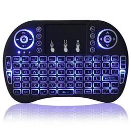 Wholesale Android Desktop Box - Rii I8 wireless keyboard touchpad Backlight Mini Keyboard Air Mouse Multi-Media Remote For X96 S905X T95X T95N TX3 PRO Android TV BOX