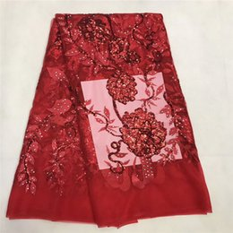 Wholesale organza lace fabric wholesale - French Lace Fabric High Class African Laces Fabric Double Organza With Sequins Embroidery For Sewing Beauty Women DressAfrican Lace Fabric 2