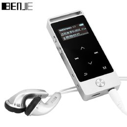 Wholesale Touch Screen Portable Mp3 - Wholesale- BENJIE Mini MP3 Player Touch Screen 8G Portable MP3 Music Player TF Card FM Radio E-book Record Russian Spanish With Armband