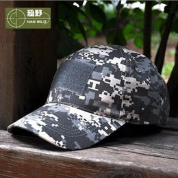 Wholesale Fitted Tactical Hats - 11Style Snapback Camouflage Tactical Hat Patch Army Tactical Baseball Cap Unisex ACU CP Desert Cobra Camo Hats For Men AA358