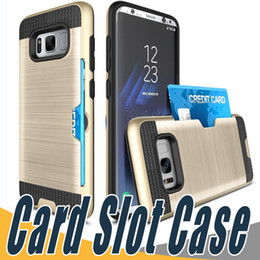 Wholesale Playing Cards Case Blue - Card Slot Case Armor Case Hard Shell Back Cover Defender Cases For Moto G2 G3 G4 G5 Plus Z Play Samsung ON5 ON7 Z3 C7