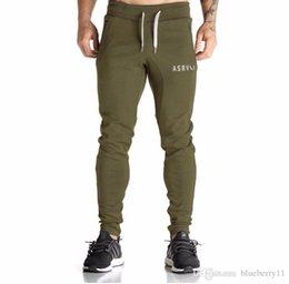 Wholesale Black Flare Pants Mens - WholeTide-Gymshark Men Black Green Casual Sport Training Pants Slim Fit Mens Jogging Running Trousers Professional Bodybuilding Sweatpants