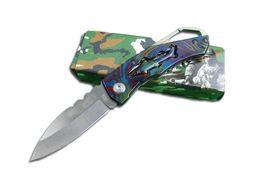Wholesale China J - Wholesale - 2014 New China J 202 mini EDC pocket folding knife full steel colorful handle outdoor camping hiking knife knives Christmas gift