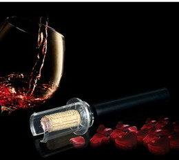 Wholesale Wholesale Plastic Wine Bottles - wine bottle opener party favors Cork Remover Easy Air Pump Pressure barware air pump wine opener ABS material bar tool