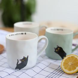 Wholesale Wholesale China Zakka - Wholesale- ZAKKA Nordic retro coffee cup Japanese cartoon cat ceramic mug cup for breakfast milk and fruit juice