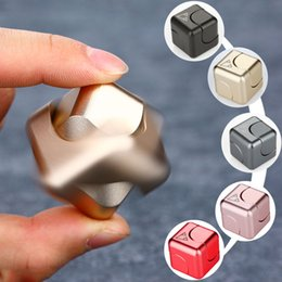 Wholesale Black Spinners - 2018 Newest Square Spinner Fidget Toy EDC Fidgets Hand Spinner For Autism and ADHD Anti-stress Quit Smoking for all ages