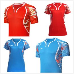 Wholesale Jersey Badminton New - New 2016 Rio Olympics Li-Ning T-shirts for men and women badminton wear shorts suits of sleeves quick-drying breathable,table tennis jersey