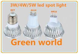 Wholesale 12v E27 Led 4w - 3W 4W 5WLED spot light E27 GU10 MR16 GU5.3 head high quality dc12-24V AC85-265V spot light OEM 10pcs