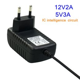 Wholesale 12 Tv Monitor - AC100-240 V EU US plug DC 12 V2A 5V3A netzteil 55*21mm für led streifen licht, LCD-Monitor TV Box Schaltnetzteil