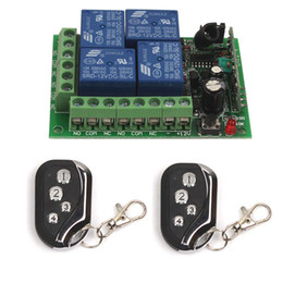 Wholesale 4ch Remote Control Transmitter - Wholesale-315MHz 433MHz 12V 4CH Channel Relay Wireless Remote Control ON OFF Switch Transmitter Receiver