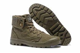 Wholesale Cheap Men Cloths - Hot Sale Brand Palladium Style men's High Top Shoes New Homme city boy Outdoor Comfortable Ankle Boots Cheap Size EUR 39-45