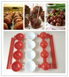 Wholesale Cake Ball Boxes - Meatball making mould Meatballs Mold Pork fish beef balls Novice quick Make Baking Moulds PP resin With Original Retail Box