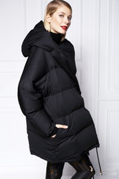 Wholesale Womens Long Down Jacket Xs - New Winter Jacket Women Down Casual Winter Coats Plus Size XS-L Hooded Parka Coat Long Style Womens Jackets