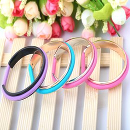Wholesale Hair Chain Black - Rubber band Titanium bracelets fashion hair tie bracelet vintage open Titanium steel cute bangles for women