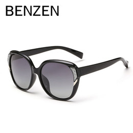 Wholesale Men Sport Sunglases - BENZEN Polarized Sunglasses Women Luxury Female Sun Glasses BlackDesigner Ladies Shades Sunglases Eyewear With Case 6086