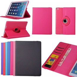 Wholesale Detachable Ipad - 360 Rotating Flip Detachable Leather Case Stand TPU Cover Wallet Credit Card Photo Frame Slots For New iPad 2017 Pro 2 3 4 5 6 Air Mini 9.7