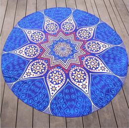 ko Rabatt Komprimierte Mandala Runde Strandtücher Runde Wurf Tapisserie Hippie Boho Gypsy Cotton Tischdecke Chiffon Strandtuch Runde Yoga-Matte