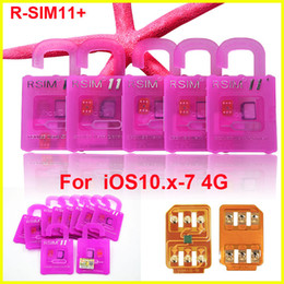 Original R SIM 11 + RSIM11 plus r sim11 + rsim11 cartão de desbloqueio para iphone 5 5s 6 6 mais iphone7 iOS 10 9 8 ios7-10.x CDMA GSM SPRINT LTE 4G 3G de