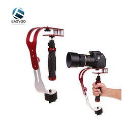 Wholesale Video Camera Brackets - Video Camera Aluminum Red Bracket Holder Handle Handheld Action Stabilizer Grip For Canon Nikon Sony Go pro SJCAM Xiaomi Yi Camera Mini DV