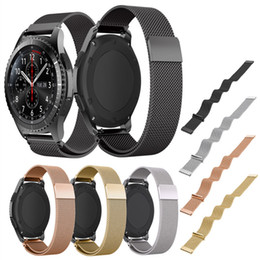 Wholesale Quick Watch - 22mm Milanese Loop Watch Band + Quick Release Pins for Samsung Gear S3 Classic   Frontier Magnetic Buckle Strap Wrist Bracelet
