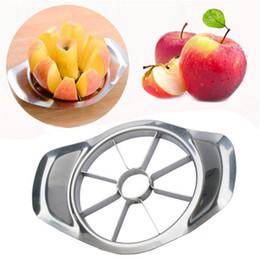 Fette di mele online-Affettatrice per mele in acciaio inox Frutta vegetale Apple Pear Cutter Affettatrice Utensili da cucina Affettare utensili da cucina