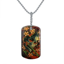 Wholesale Cartoon Printing Plate - Style Top quality Printing high polished Color Cartoon Skull kill Stainless Steel Pendant Necklace For Men PN-351