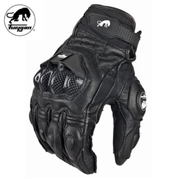 Wholesale leather race gloves motorcycle - Wholesale- Furygan AFS6 Motorcycle Gloves Moto Racing Carbon Fiber Leather Guante Para Leather Motobike Racing Sports Gloves