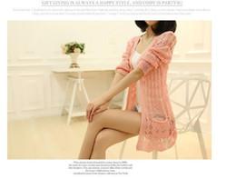 Wholesale Black Top Crochet Collar - Women Sweet Candy Color Crochet Knit Sweater Cardigan Thin Open Draped Knit Cardigan Shawl Collar Irregular Hem Top