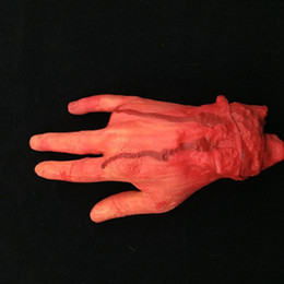 Wholesale Finger Foot - Halloween Ghost Day Prank Props Arm And Leg Stump Blood Hand Scars Foot Prank Trick Halloween Toys Artificial 4 Fingers Brain Heart