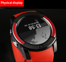 Wholesale Italian Colors - New Arrival 8 Colors V8 Smart Watch Phone Bluetooth 3.0 IPS HD Full Circle Display MTK6261D Smartwatch VS GT08 DZ09