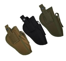 Wholesale Tactical Magazines - High Quality Edc Right Left Interchangeable Tactical Pistol Hand Gun Holster Molle Pistol Holster Magazine Slot Holder