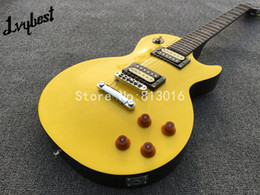 Wholesale Electric Guitar Yellow Inlay - high grade electric guitar,yellow top,abalone inlay on rosewood fingerboard,chrome parts!
