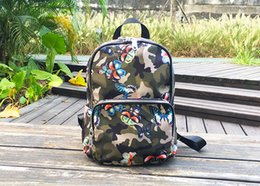 Wholesale backpack colorful - Hot Brand Fashion Design Waterproof High Quality Nylon Colorful Butterflies Backpack Boy and Girl School Bag