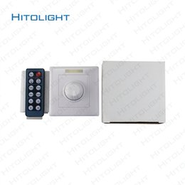 Wholesale Remote For Wall Switches - HITOLIGHT AC90-240V LED Wall Mounted Dimmer Switch with 12 Keys IR Remote Control Adjustable for 5050,2835 LED Single Color Controller