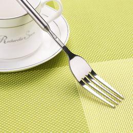Wholesale Novelty Cutlery - DIY Stainless Steel Telescopic Extendable Dinner Fruit Dessert Long Fork Novelty Cutlery