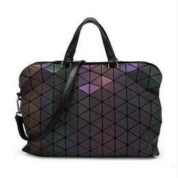 Wholesale Bag End - 2017 Brand Luminous Women Bao Bao Bag High-end Geometric Handbags Plaid Shoulder Diamond Lattice BaoBao Ladies Messenger Bags