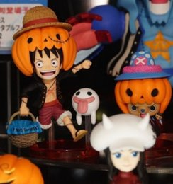 Wholesale One Piece Figure Set Sanji - 8pcs set new hot sale PVC anime figure doll one piece Luffy Sauron Sanji Halloween All Saints' Day gift toy 8CM free shipping