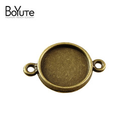 Shop pendant tray blanks wholesale uk pendant tray blanks boyute 100pcs round 10mm 12mm pendant tray cabochon base with 2 loops wholesale vintage style antique bronze plated pendant blanks mozeypictures Choice Image