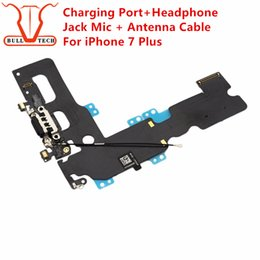 Wholesale Iphone Dock Connector Charger - Charging Port Flex Cable For iPhone 7 Plus Charger Data USB Dock Connector with Headphone Audio Jack Mic Antenna Antena Wifi Cable